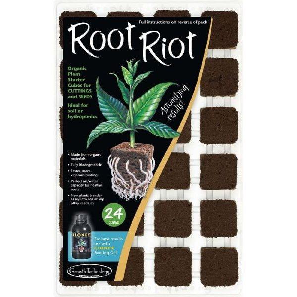 Root riot besidder alle de nødvendige næringstoffer, som frø og stiklinger har brug for i det tidlige stadie.